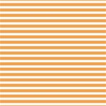 Horizontal Stripes Orange Storage Stool 12   Top