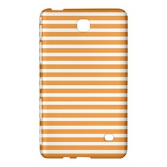 Horizontal Stripes Orange Samsung Galaxy Tab 4 (8 ) Hardshell Case  by AnjaniArt