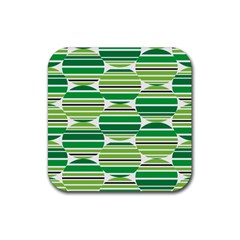 Mint Green Rubber Square Coaster (4 Pack)  by AnjaniArt