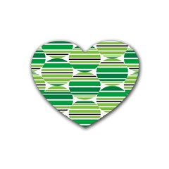 Mint Green Heart Coaster (4 Pack)  by AnjaniArt