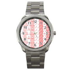 Modelos Toppers Princesa Handcrafted Studio Train King Pink Sport Metal Watch by AnjaniArt