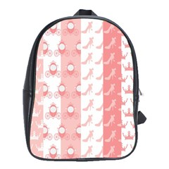 Modelos Toppers Princesa Handcrafted Studio Train King Pink School Bags (xl)