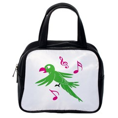 Parrot Bird Green Classic Handbags (one Side) by AnjaniArt