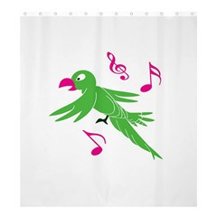 Parrot Bird Green Shower Curtain 66  X 72  (large)  by AnjaniArt
