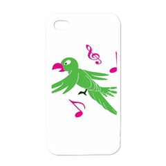 Parrot Bird Green Apple Iphone 4 Case (white)