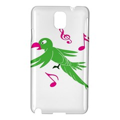 Parrot Bird Green Samsung Galaxy Note 3 N9005 Hardshell Case