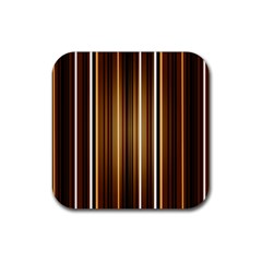 Line Brown Rubber Coaster (square)  by AnjaniArt