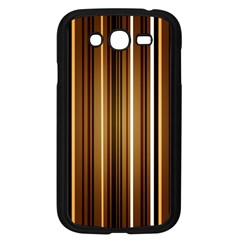 Line Brown Samsung Galaxy Grand Duos I9082 Case (black) by AnjaniArt
