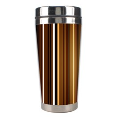 Line Brown Stainless Steel Travel Tumblers by AnjaniArt