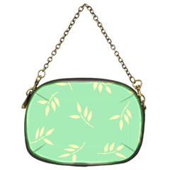 Pastel Leaves Chain Purses (two Sides)