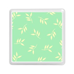 Pastel Leaves Memory Card Reader (square)  by AnjaniArt