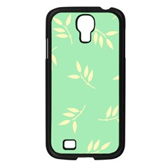 Pastel Leaves Samsung Galaxy S4 I9500/ I9505 Case (black) by AnjaniArt