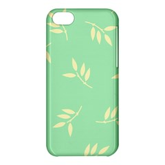 Pastel Leaves Apple Iphone 5c Hardshell Case by AnjaniArt