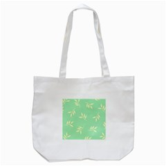 Pastel Leaves Tote Bag (white)