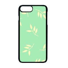 Pastel Leaves Apple Iphone 7 Plus Seamless Case (black) by AnjaniArt