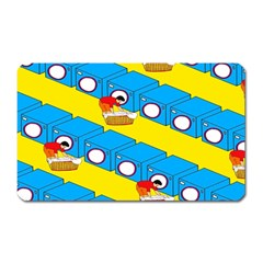 Machine Washing Clothes Blue Yellow Dirty Magnet (rectangular)