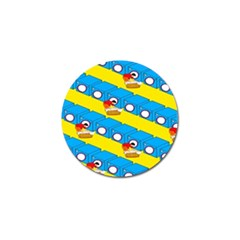 Machine Washing Clothes Blue Yellow Dirty Golf Ball Marker (10 Pack) by AnjaniArt