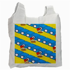 Machine Washing Clothes Blue Yellow Dirty Recycle Bag (one Side)
