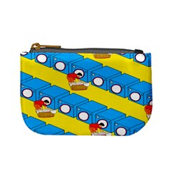 Machine Washing Clothes Blue Yellow Dirty Mini Coin Purses