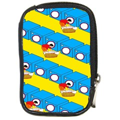 Machine Washing Clothes Blue Yellow Dirty Compact Camera Cases by AnjaniArt