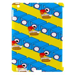 Machine Washing Clothes Blue Yellow Dirty Apple Ipad 3/4 Hardshell Case (compatible With Smart Cover) by AnjaniArt