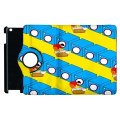 Machine Washing Clothes Blue Yellow Dirty Apple Ipad 2 Flip 360 Case by AnjaniArt