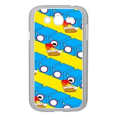 Machine Washing Clothes Blue Yellow Dirty Samsung Galaxy Grand Duos I9082 Case (white)