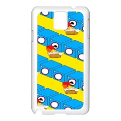 Machine Washing Clothes Blue Yellow Dirty Samsung Galaxy Note 3 N9005 Case (white)