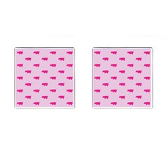 Pig Pink Animals Cufflinks (square) by AnjaniArt