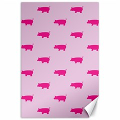 Pig Pink Animals Canvas 24  X 36  by AnjaniArt