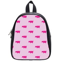 Pig Pink Animals School Bags (small)  by AnjaniArt