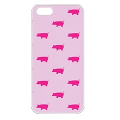Pig Pink Animals Apple Iphone 5 Seamless Case (white) by AnjaniArt