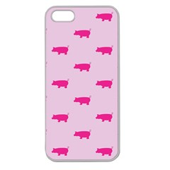 Pig Pink Animals Apple Seamless Iphone 5 Case (clear)