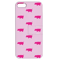 Pig Pink Animals Apple Iphone 5 Hardshell Case With Stand by AnjaniArt