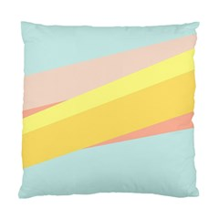 Pink Green Yellow Line Flag Standard Cushion Case (two Sides)