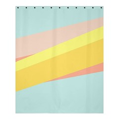 Pink Green Yellow Line Flag Shower Curtain 60  X 72  (medium)  by AnjaniArt