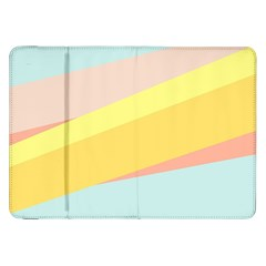 Pink Green Yellow Line Flag Samsung Galaxy Tab 8 9  P7300 Flip Case