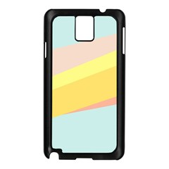 Pink Green Yellow Line Flag Samsung Galaxy Note 3 N9005 Case (black) by AnjaniArt