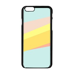 Pink Green Yellow Line Flag Apple Iphone 6/6s Black Enamel Case by AnjaniArt