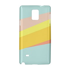 Pink Green Yellow Line Flag Samsung Galaxy Note 4 Hardshell Case