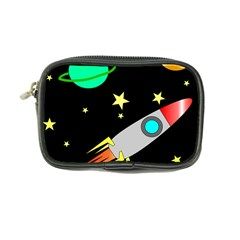 Planet Saturn Rocket Star Coin Purse by AnjaniArt