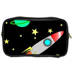 Planet Saturn Rocket Star Toiletries Bags 2 Side by AnjaniArt
