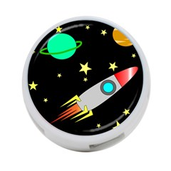 Planet Saturn Rocket Star 4 Port Usb Hub (one Side) by AnjaniArt