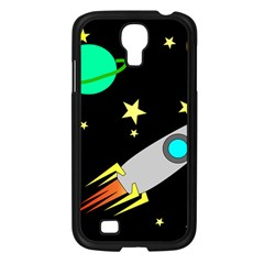 Planet Saturn Rocket Star Samsung Galaxy S4 I9500/ I9505 Case (black)