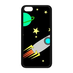 Planet Saturn Rocket Star Apple Iphone 5c Seamless Case (black) by AnjaniArt