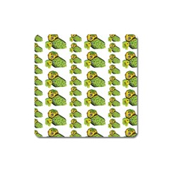 Parrot Bird Green Animals Square Magnet by AnjaniArt