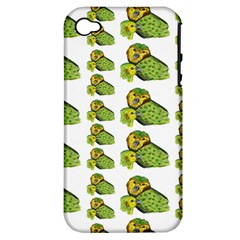 Parrot Bird Green Animals Apple Iphone 4/4s Hardshell Case (pc+silicone)