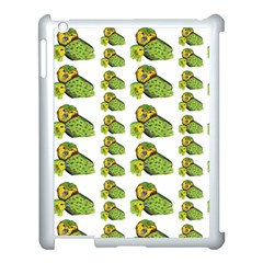 Parrot Bird Green Animals Apple Ipad 3/4 Case (white) by AnjaniArt