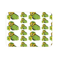 Parrot Bird Green Animals Double Sided Flano Blanket (mini)