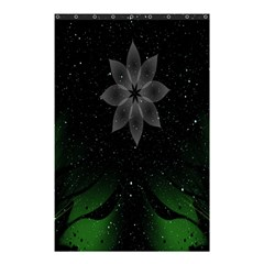 Night Sky Flower Shower Curtain 48  X 72  (small)  by AnjaniArt
